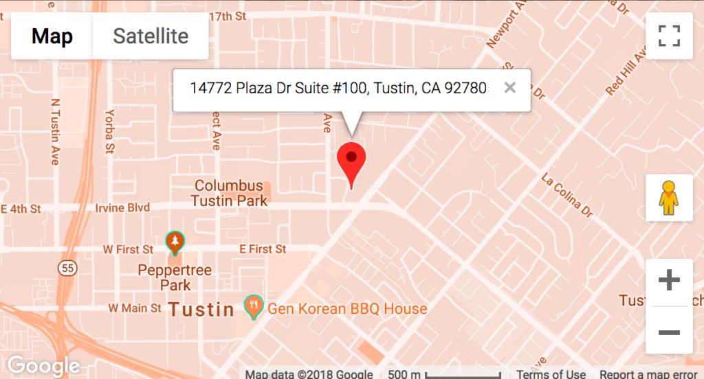 tustin map location